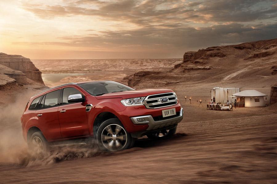 Dòng xe Ford Everest đã thu hút được khá nhiều sự quan tâm của khách hàng.