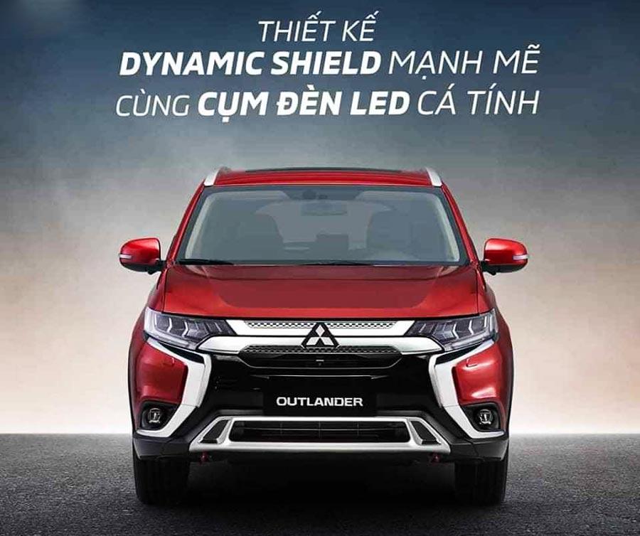 Thiết kế Dynamic Shield mạnh mẽ cùng cụm đèn LED cá tính