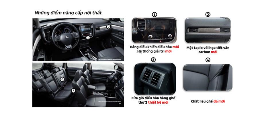 Những điểm nâng cấp về nội thất của Mitsubishi Outlander CVT 2.0 Premium 2020