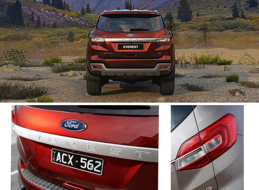 Hình ảnh đuôi xe Ford Everest