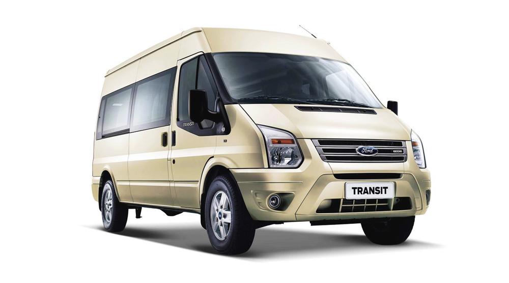 Ford Transit màu ghi vàng