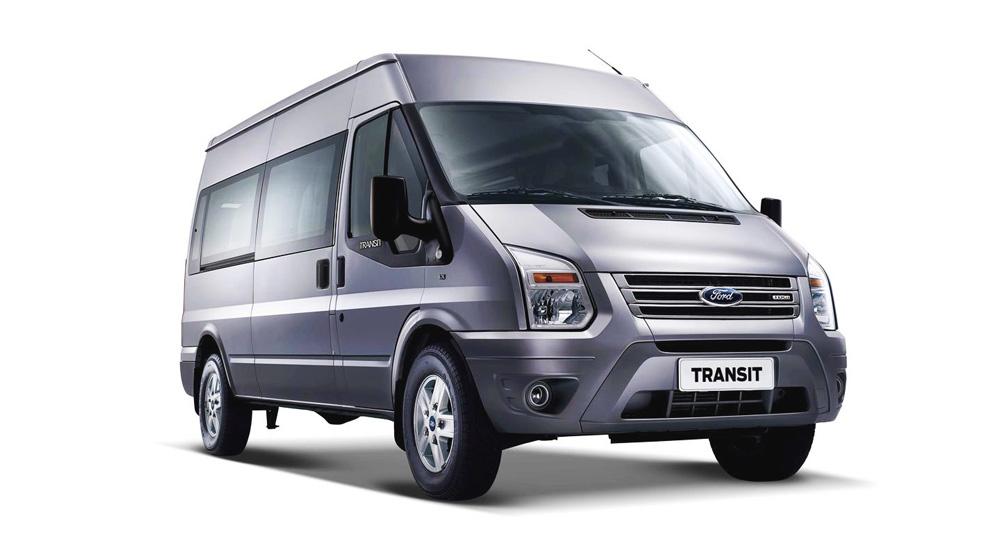Ford Transit màu xám